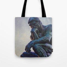 El pensador de Rodin Tote Bag