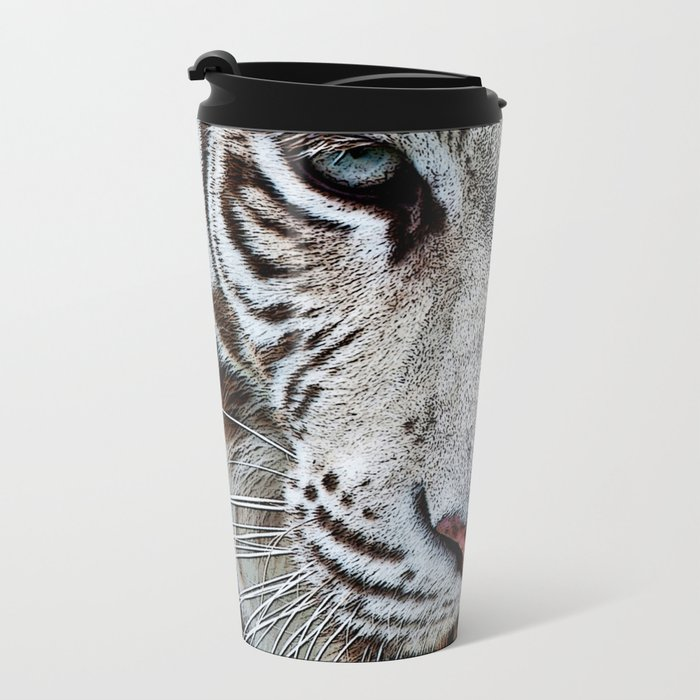 BLUE-EYED BOY Metal Travel Mug