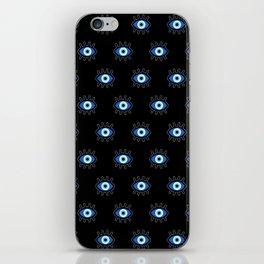 Evil Eye on Black iPhone Skin
