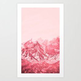 Mountains Red Art Print