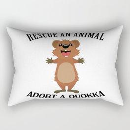 Quokka Australia Kangaroo Marsupial Animal Rescue Rectangular Pillow