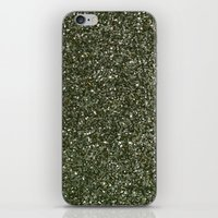 gold glitter iPhone & iPod Skins featuring gold glitter by Hannah