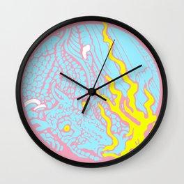 Trash - pink Wall Clock