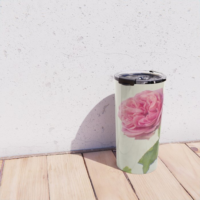 A single rose Travel Mug