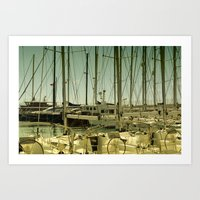 marina Art Prints featuring marina by gzm_guvenc
