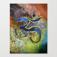 namaste Canvas Prints featuring Namaste by Imperfections
