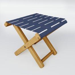 Organic / Navy Folding Stool