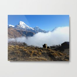 Panoramic View Of Everest Mountain Metal Print