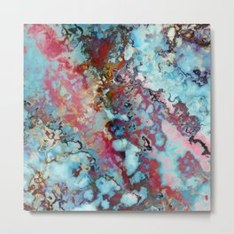 Colorful abstract marble II Metal Print