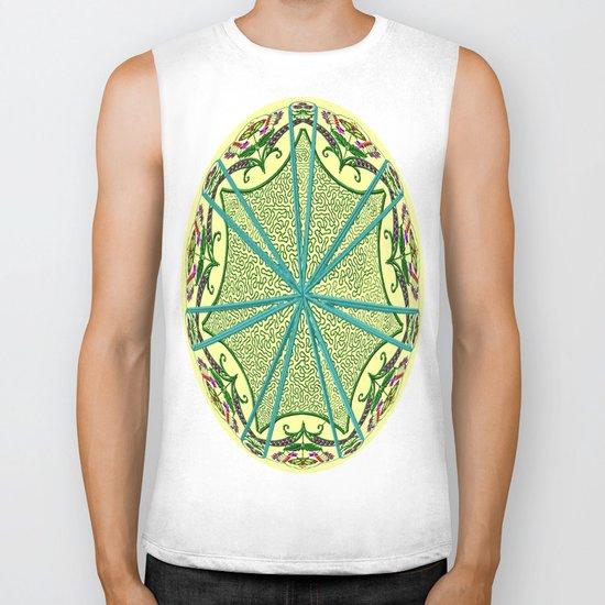 Mandala in florals Biker Tank
