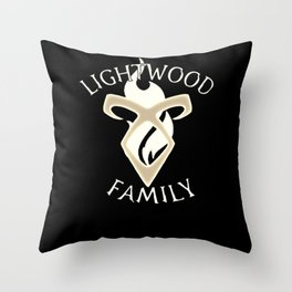 family lightwood Throw Pillow