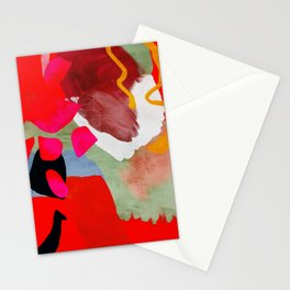 phantasy in red abstract Stationery Cards