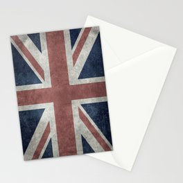 UK Flag, Retro Desaturated 1:2 scale Stationery Cards