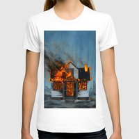house T-shirts featuring House on Fire by FAMOUS WHEN DEAD