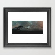 Mountain in the Clouds Framed Art Print
