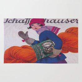 Girl With Giant Skein of Yarn Rug
