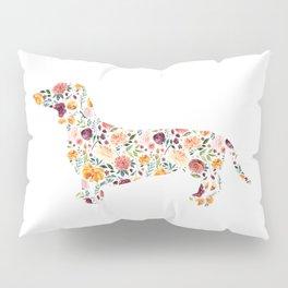 Dachshund - Watercolor/Floral Pillow Sham