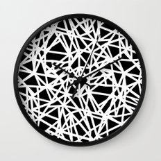 Ab Upside down Black Wall Clock