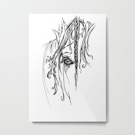 Tribal Horse Metal Print