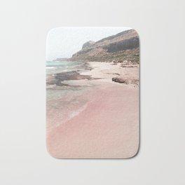 Pink Beach On Crete Island Photo   Greece Summer Holiday Art Print   Europe Travel Photography Bath Mat