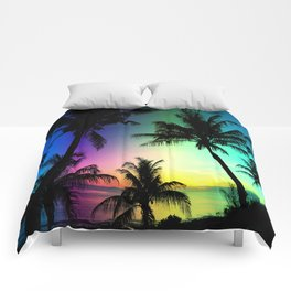 California Palm Trees Dream Comforters