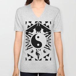 Yin Yang Orbit (2) Unisex V-Neck