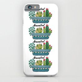 Hand Embroidery Succulent Pot iPhone Case