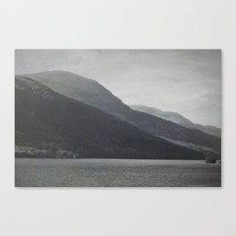 In the Shadows of Mountains Canvas Print