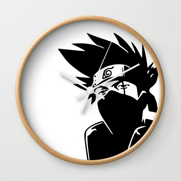 Kakashi Hatake Naruto Wall Clock By Sheamkennedy Society6