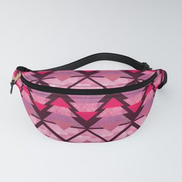 Geometric Forest on Pink Fanny Pack