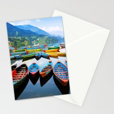 Wonderful colored boat | Stationery Cards