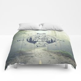 Compass Mountain Road Trip Comforters