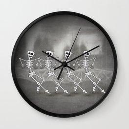 Dancing skeletons I Wall Clock