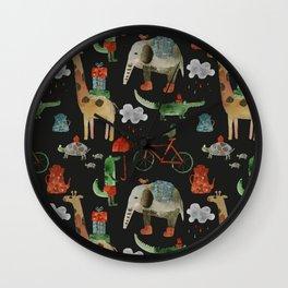 Cozy Zoo Wall Clock