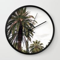 palms Wall Clocks featuring PALMS by N A T