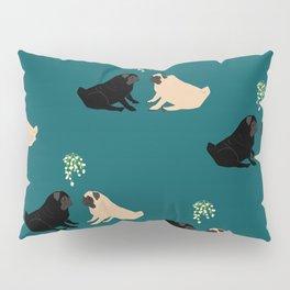 Christmas Pug Love Pillow Sham