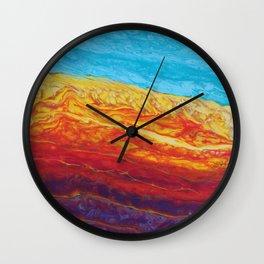 Molten Earth Wall Clock