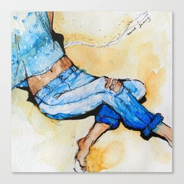 Jeans Beach Bum Canvas Print