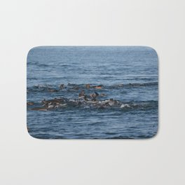 Vivacious Sea Lions Bath Mat