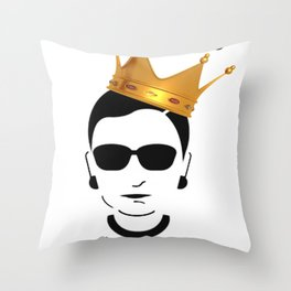 RBG Ruth Bader Ginsburg Fight For The Things You Care About Throw Pillow