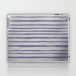 Violet gray silver watercolor brushstrokes stripes Laptop & iPad Skin