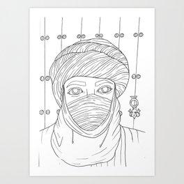 Tuareg Art Print