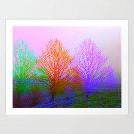 between realities Art Print