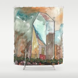 The Fountain Place Shower Curtain
