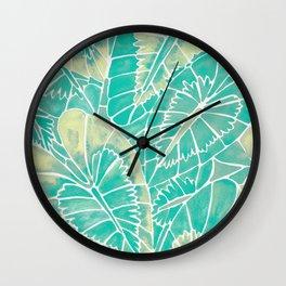 Schismatoglottis Calyptrata – Mint Palette Wall Clock