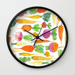 Root Veggies Wall Clock