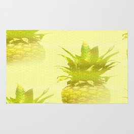 Pineapples Yellow Background #decor #society6 Rug