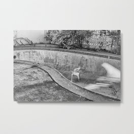 Pool Party For One Metal Print
