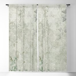 Faded Vintage Stationery Blackout Curtain