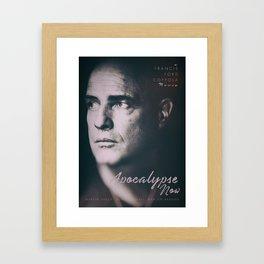 Apocalypse now, Marlon Brando, Vietnam war, alternative movie poster, cult film Framed Art Print
